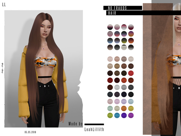 No Frauds Hair by Leah Lillith at TSR image 2212 Sims 4 Updates