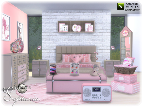 Septania bedroom by jomsims at TSR image 2213 Sims 4 Updates