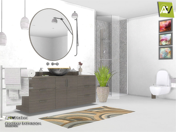 Chateau Bathroom by ArtVitalex at TSR image 2215 Sims 4 Updates