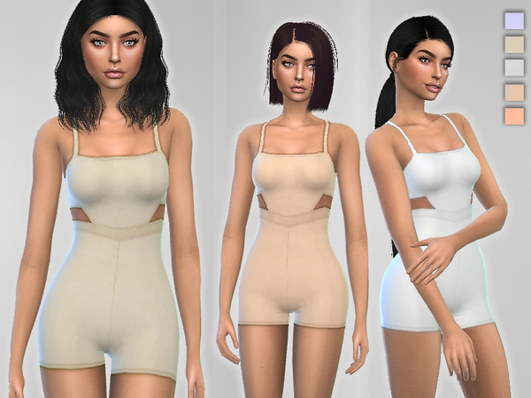 Sims 4 Form Fitting Romper by Puresim at TSR