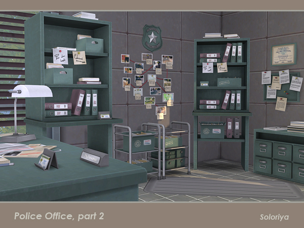 Police Office part 2 by soloriya at TSR image 2217 Sims 4 Updates