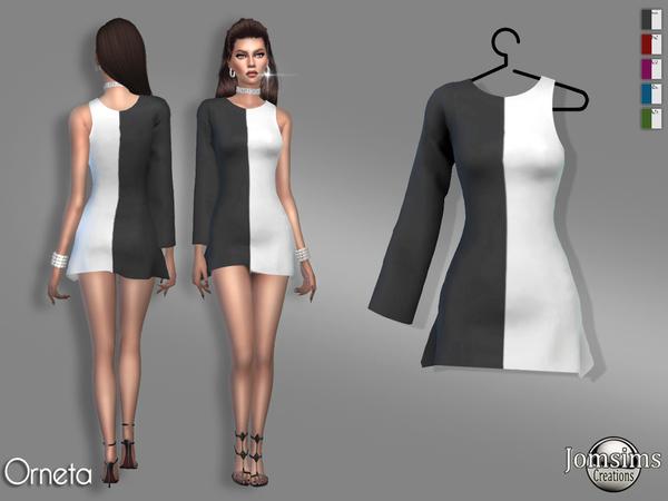 Sims 4 Orneta dress by jomsims at TSR