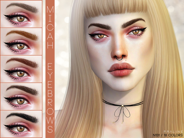 Sims 4 Micah Eyebrows N131 by Pralinesims at TSR