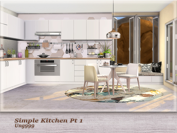 Simple Kitchen Pt.1 by ung999 at TSR image 226 Sims 4 Updates