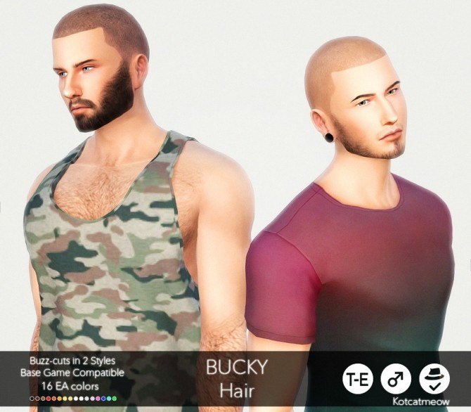 Sims 4 Bucky hair at KotCatMeow