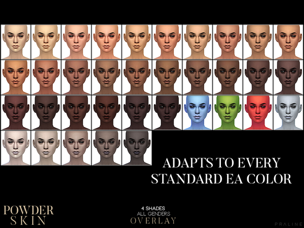 PS Powder Skin Overlay by Pralinesims at TSR image 228 Sims 4 Updates