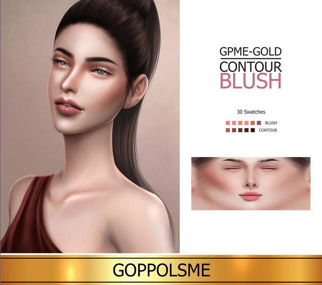 Sims 4 GOLD Contour Blush at GOPPOLS Me