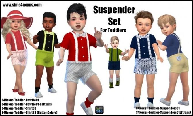 Toddler Suspender Set by SamanthaGump at Sims 4 Nexus image 2291 670x402 Sims 4 Updates
