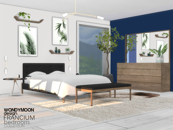 Francium Bedroom by wondymoon at TSR image 23 Sims 4 Updates