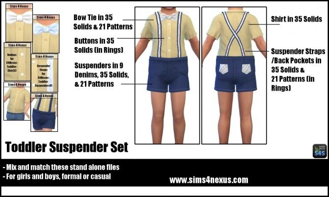 Toddler Suspender Set by SamanthaGump at Sims 4 Nexus image 2301 670x402 Sims 4 Updates