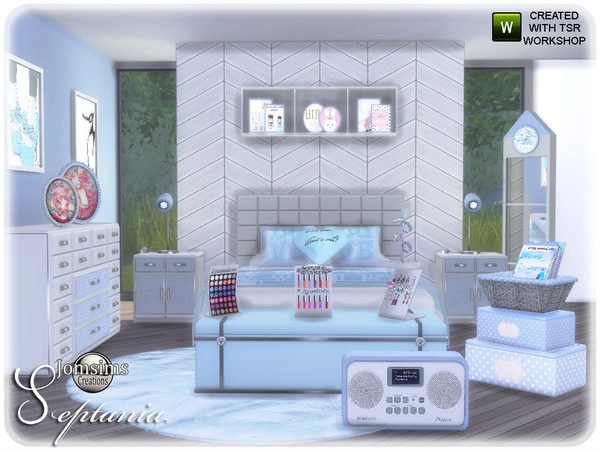 Septania bedroom by jomsims at TSR image 2311 Sims 4 Updates