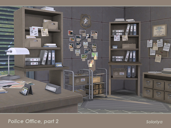 Police Office part 2 by soloriya at TSR image 2316 Sims 4 Updates