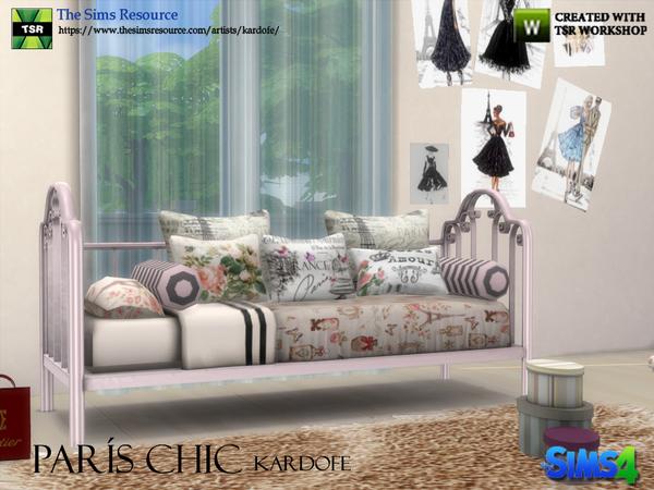 Paris Chic bedroom by kardofe at TSR image 233 Sims 4 Updates