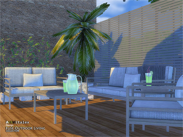 Fuse Outdoor Living by ArtVitalex at TSR image 238 Sims 4 Updates