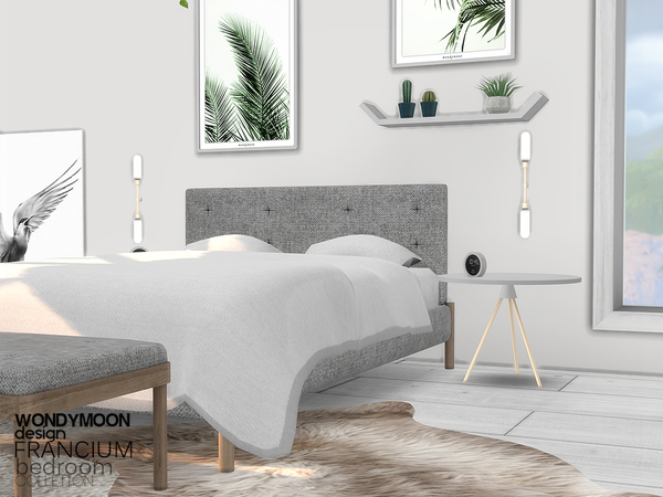 Francium Bedroom by wondymoon at TSR image 24 Sims 4 Updates