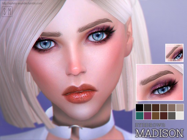 Sims 4 Madison Eyebrows by Screaming Mustard at TSR