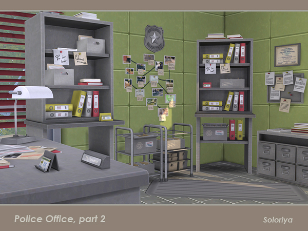 Police Office part 2 by soloriya at TSR image 2414 Sims 4 Updates