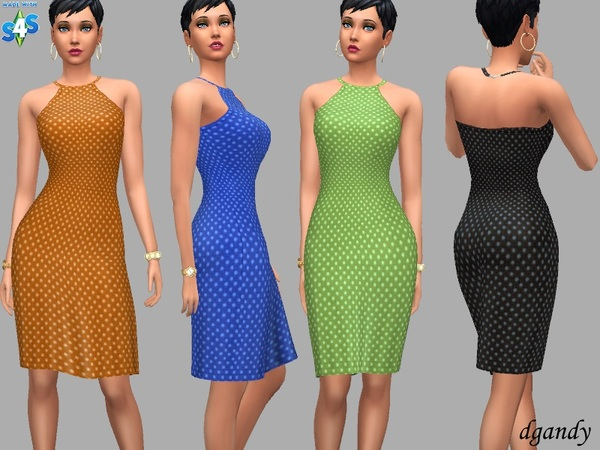 Sims 4 Party Dress Laura by dgandy at TSR