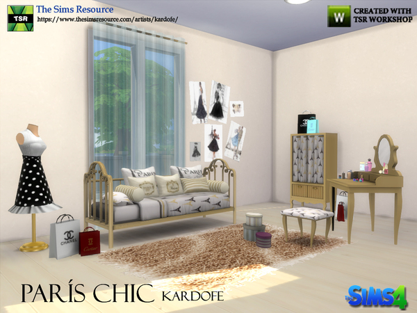 Paris Chic bedroom by kardofe at TSR image 243 Sims 4 Updates