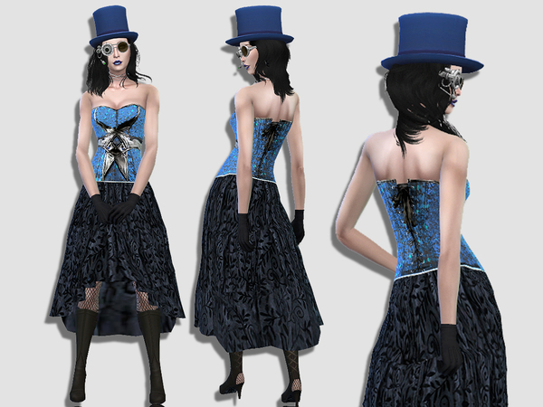 Steampunk dress by Simalicious at TSR image 2510 Sims 4 Updates