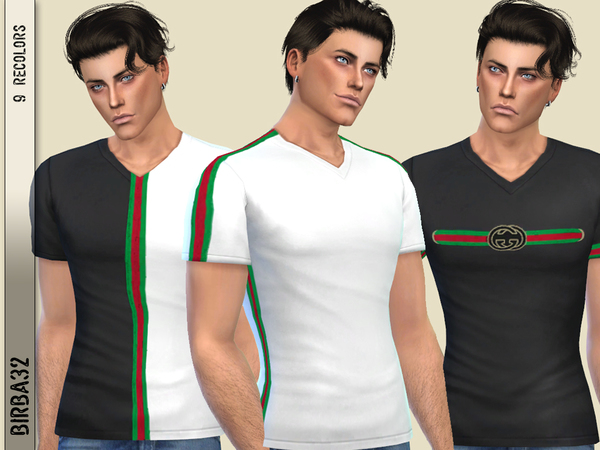 Sims 4 G style T shirt by Birba32 at TSR