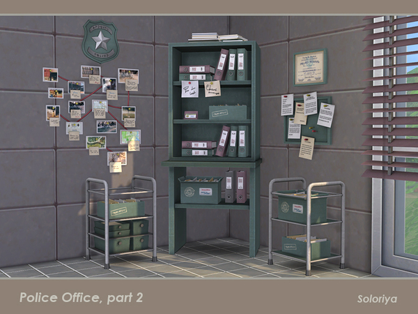 Police Office part 2 by soloriya at TSR image 2514 Sims 4 Updates