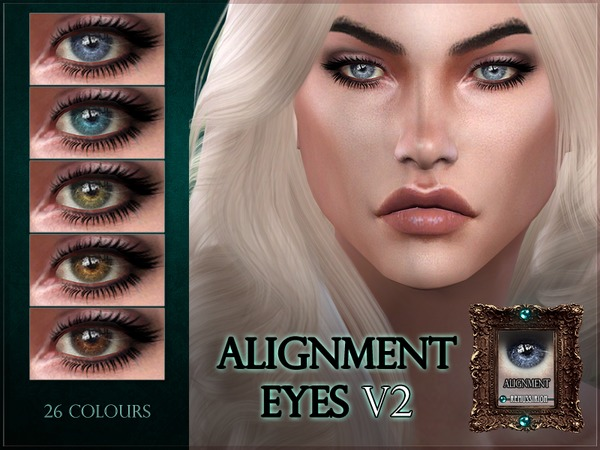 Sims 4 Alignment Eyes V2 with shine by RemusSirion at TSR