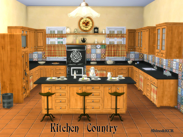 Kitchen Country by ShinoKCR at TSR image 255 Sims 4 Updates