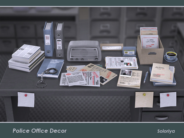 Police Office Decor by soloriya at TSR image 257 Sims 4 Updates
