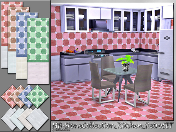 MB Stone Collection Kitchen Retro SET by matomibotaki at TSR image 2610 Sims 4 Updates