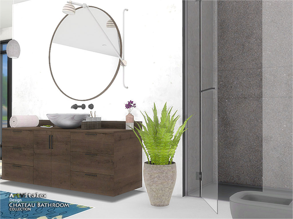 Chateau Bathroom by ArtVitalex at TSR image 2612 Sims 4 Updates