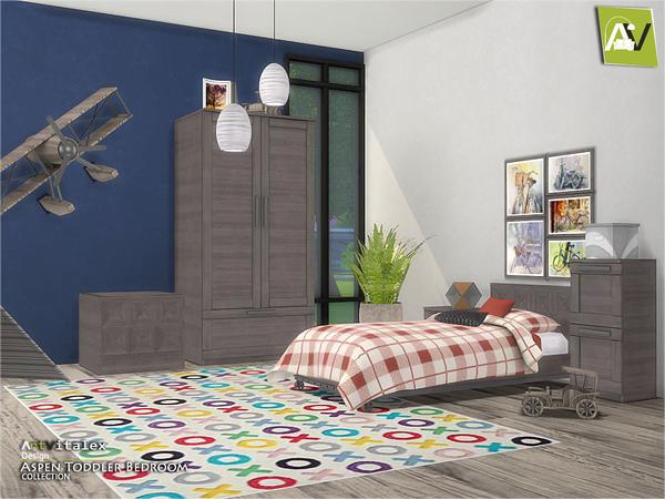 Sims 4 Aspen Toddler Bedroom by ArtVitalex at TSR