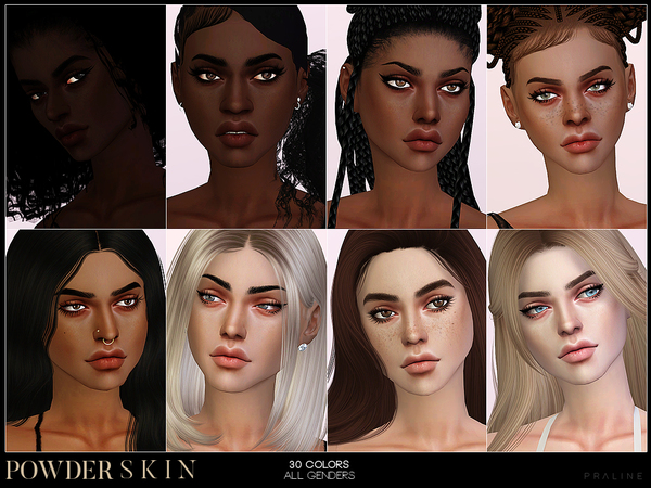 Sims 4 PS Powder Skin by Pralinesims at TSR