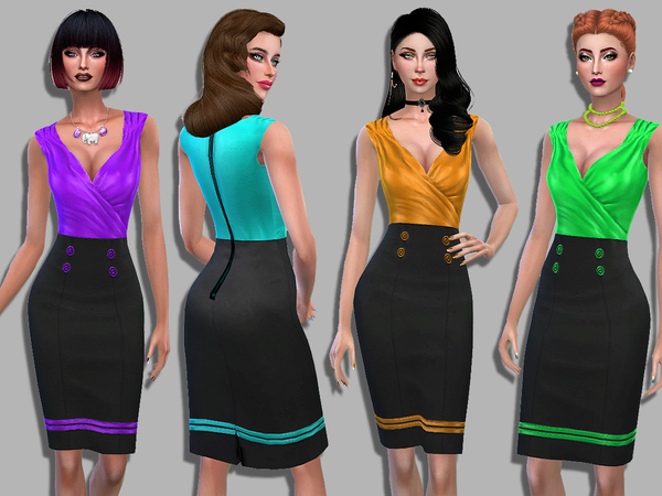Anabelle dress by Simalicious at TSR image 270 Sims 4 Updates