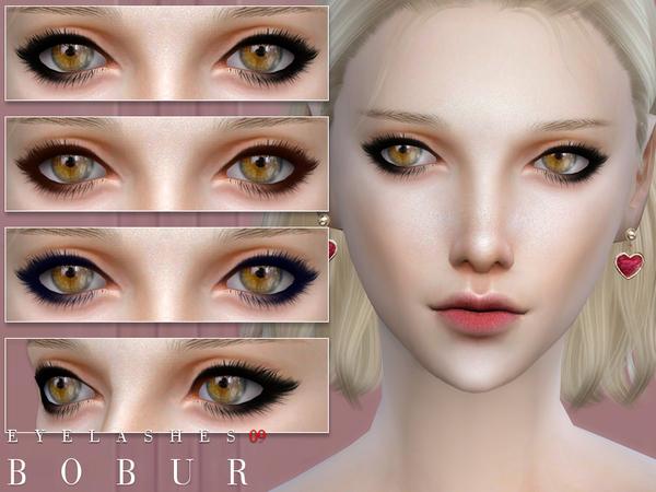 Sims 4 Eyelashes 09 by Bobur3 at TSR