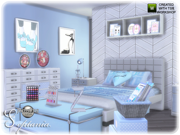 Septania bedroom by jomsims at TSR image 2711 Sims 4 Updates