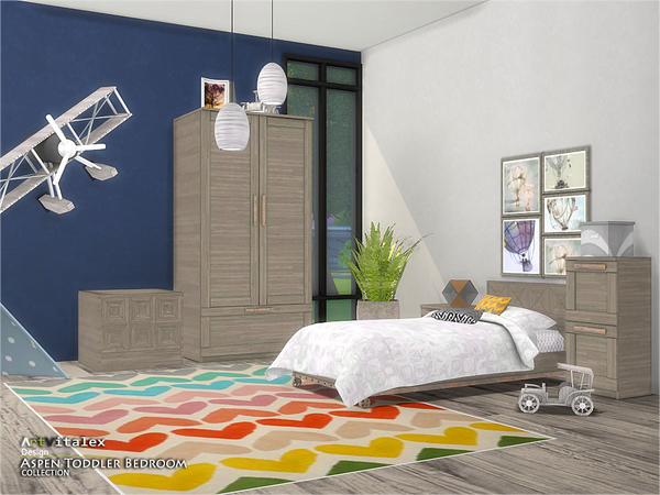 Aspen Toddler Bedroom by ArtVitalex at TSR image 2713 Sims 4 Updates