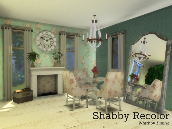 Sims 4 Shabby Chic Whithby Dining by Angela at TSR