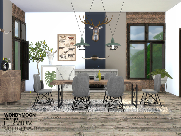 Fermium Dining Room by wondymoon at TSR image 2721 Sims 4 Updates
