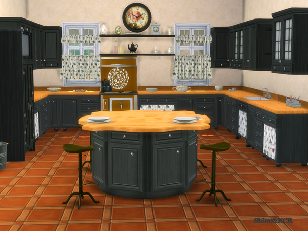 Kitchen Country by ShinoKCR at TSR image 275 Sims 4 Updates