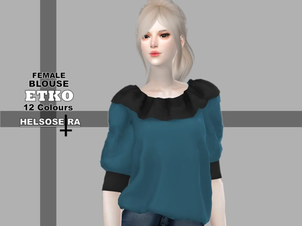 Sims 4 ETKO Blouse by Helsoseira at TSR