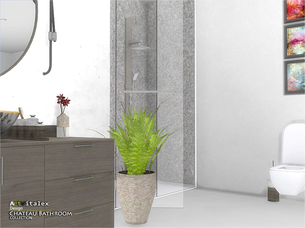 Chateau Bathroom by ArtVitalex at TSR image 2812 Sims 4 Updates