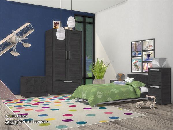 Aspen Toddler Bedroom by ArtVitalex at TSR image 2813 Sims 4 Updates