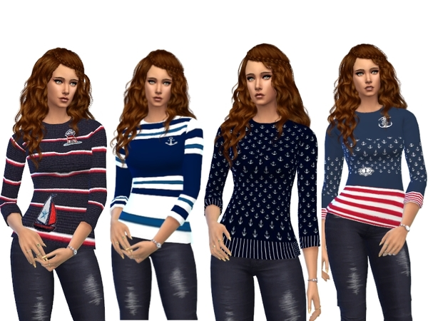Maritime Sweater by Louisa 1 at TSR image 2817 Sims 4 Updates