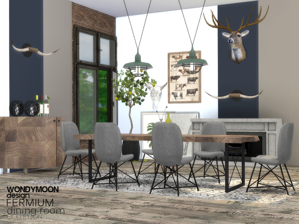 Fermium Dining Room by wondymoon at TSR image 2821 Sims 4 Updates