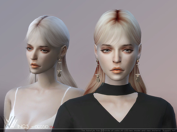 Hair OE0510 by wingssims at TSR image 287 Sims 4 Updates
