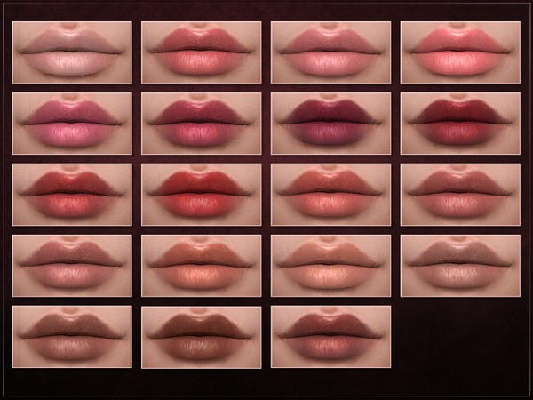 Sims 4 iCLIP Lipstick by RemusSirion at TSR