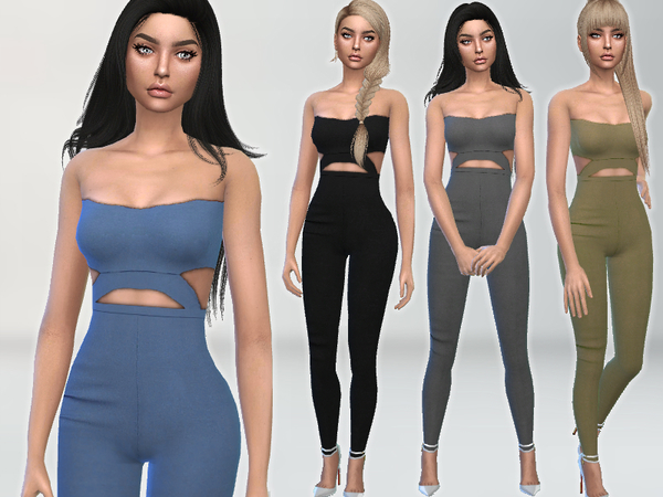 Sims 4 Perfection Jumpsuit by Puresim at TSR