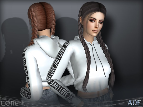 Loren hair by Ade Darma at TSR image 3011 Sims 4 Updates
