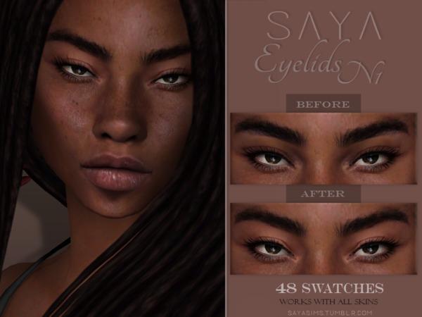 Eyelids N1 by SayaSims at TSR image 3013 Sims 4 Updates